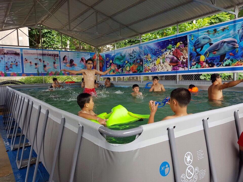 Chương trình dạy  bơi chống đuối nước tại trung tâm bơi Quế Phong- Nghệ An